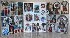 Level 3 Folio by Mezcat on DeviantArt This was my 3 board folio which was entered for NCEA Level 3 Art (Painting). My 4 main themes are women, birds, wallpaper patterns and flowers which i have developed through the boards. A Level Art, Level 3, Heart Painting, Ap Art, Panel Art, Art Portfolio, Pattern Wallpaper, Art Google, Art Boards