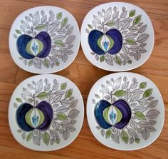 Love these plates...Marianne Westman Rörstrand of Sweden Eden Plate
