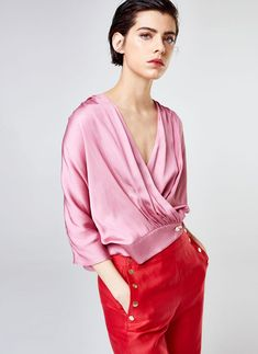 Uterqüe Sweden Product Page - New in - View all - Pink blouse - 990