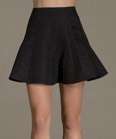 Love this Black Floral Mini Skirt on #zulily! #zulilyfinds