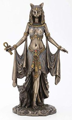 Shop a great selection of Veronese Design Bastet Egyptian Goddess Protection Statue Sculpture 10 Tall. Find new offer and Similar products for Veronese Design Bastet Egyptian Goddess Protection Statue Sculpture 10 Tall. Egyptian Goddess Costume, Egyptian Cat Goddess, Egyptian Cats, Egyptian Mythology, Egyptian Queen, Ancient Goddesses, Egyptian Anubis, Egyptian Beauty, Bast Goddess