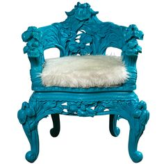 xx..tracy porter..poetic wanderlust..-Turquoise Throne Chair