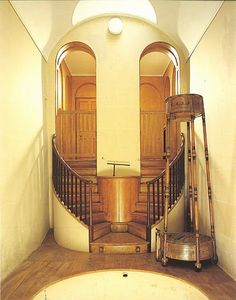 Plunge Pool at Wimpole Hall built by Sir John Soane for 3rd Earl of Hardwicke. Pool held 2,199 gallons of water heated by a boiler below.