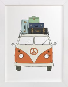 The Peace Van on the Road by b.wise papers at minted.com