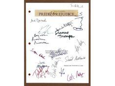 Pride and Prejudice Script Signed: Keira Knightly, Matthew MacFadyen +more