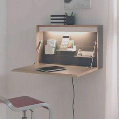 Space Saving Desk, Space Saving Furniture, Diy Furniture, Furniture Design, Design Desk, Folding Furniture, Desk Space, Furniture Stores, Small Room Furniture