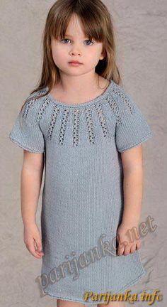Для юных модниц от 2-х до 14 лет: летнее платье спицами(Франция) | <i>вязанная</i> Дневник Иримед