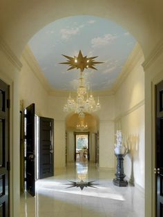 Ethereal Hallway | photo Benny Chan | design Paul R. Williams | House & Home