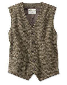 Herringbone Fleece Vest