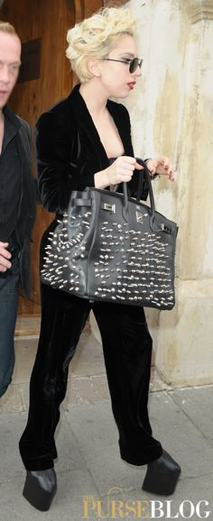 Lady Gaga Hermes Birkin Studs. I'm just curious about those shoes??