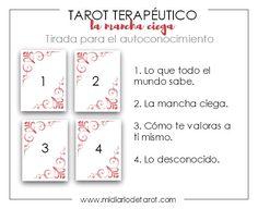 Usando el Tarot para aumentar el conocimiento de uno mismo. Explicación de la lectura de la Mancha Ciega de Hajo Banzhaf, y sus utilidades.