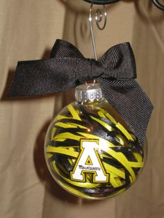 APP STATE MOUNTAINEERS Handmade Glass Ornament by ScrapsandFlowers, $12.00