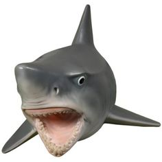 Wall Mounted Great White Shark W Teeth Head Mount Hanging Display Plaque Decor. Another shark head for the wall! They can be friends. Singing Fish, Shark Head, Nerd Cave, Geek Decor, Funny Gags, Inexpensive Home Decor, 3d Wall Art, Great White Shark, You Draw