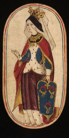 Queen (2), from the Cloisters set of fifty-two playing cards, ca. 1470–1485, South Netherlandish.