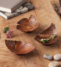 Perfect Diy Coconut Shell Ideas For Everyonen That Simple To Try 12 Home Crafts, Diy And Crafts, Coconut Shell Crafts, Coconut Bowl, Bamboo Crafts, Gourd Art, Bowl Set, Decorative Bowls, Hand Carved
