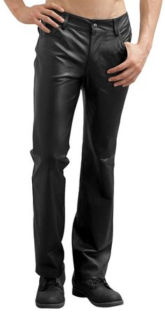 26984d47f0716 10 Best Mens Leather Trousers Jeans images