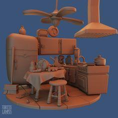 ArtStation - Cartoon Kitchen, Fabricio Campos