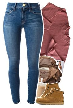 """hey there doll face"" by daisym0nste ❤ liked on Polyvore featuring Friis & Company, Frame Denim and UGG Australia"