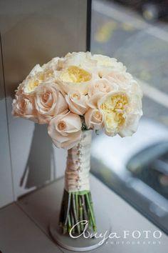 anyafoto.com, wedding bouquet, bridal bouquet, rose bouquet, roses, blush roses
