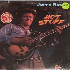 Jerry Reed Live Featuring Hot Stuff LP Record Shrink Wrap Guitar Man El Paso #EarlyCountryHonkyTonk