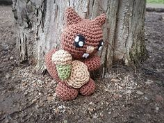 Tutorial Ardilla Amigurumi (1 de 2) Squirrel English Subtitles - YouTube