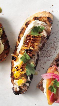grilled-corn-crostini- Bon Appetit