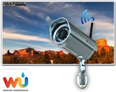 Ambient Weather AmbientCamHD Outdoor WiFi WeatherCam with Free Wunderground Hosting Services Lightning Detector, Personal Weather Station, Emergency Radio, Weather Data, Bullet Camera, Solar Power, Wifi, Remote, Outdoor