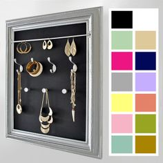 Solid Jewelry Organizer - choose background color to match room/decor