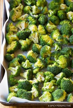 How to Make Perfect Roasted Broccoli Recipe | ASpicyPerspective.com