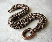 #Men's Chain Bracelet, Antique Copper Bracelet, Chainmaille Bracelet, #Snake Bracelet, Father day gift, Copper Bracelet, #Men's Rugged Bracelet Arret at Etsy.com