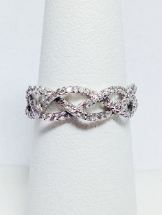 925 Silver Filled White Sapphire Birthstone Engagement Wedding Heart