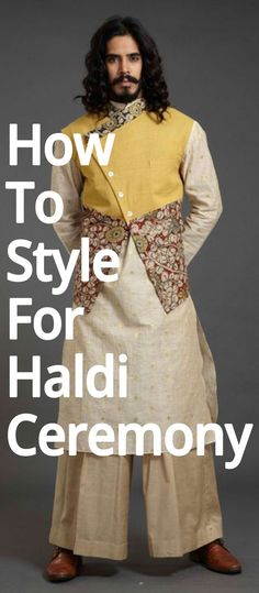 No efforts are put in by men to get the perfect look for haldi ceremony. So, here we have some outfit ideas for men. Indian Men Fashion, Latest Mens Fashion, Peplum Dress, Sequin Skirt, Haldi Ceremony, Indian Man, Gentleman, Sari, Classy