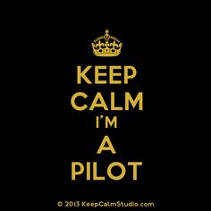 KEEP CALM, I'M A PILOT. No really I am!