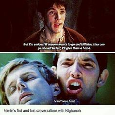 This hurts so much to see Merlin losing his best friend! Merlin has lost so much, his father, Freya, who was probably his first love, and she loved him too, Gwaine, Lancelot ,and most of the knights, and now Arthur his friend.