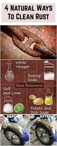 Rust a merciless substance that splashes and pans, pots, spoons, forks, and even parts of furniture. Many rust remover products contain various chemical poison substances, so we suggest you 4 NATURAL, ECO-FRIENDLY WAYS TO CLEAN RUST WITH HOME-MADE THINGS that you definitely have at home. So let's move on. #clean #rust #natural #ways #tips