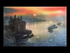 This is the last day in Mumbai, got new job in Saharanpur U. Leaving Mumbai today, very emotional today to painting last time in Powai Lake, Watercolor on paper, Size 15 X 11 inches. Step By Step Watercolor, Step By Step Painting, Landscape Paintings, Watercolor Paintings, Landscapes, Watercolour Tutorials, Paper Size, Line Drawing, Pen And Wash