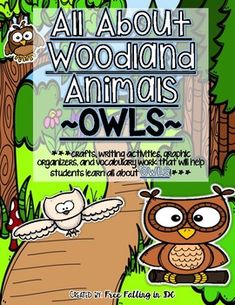 """*Super cute addition to any unit pertaining to forests, woodland animals, mammals, prey, habitats, etc. *Don't forget to check out my bundled """"All About Woodland Animals"""" unit that contains 11 different woodland animals and over 250 pages of activities for the kiddos to use."""