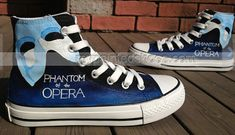 The Phantom Of The Opera Inspired Shoes High-top Painted Canvas