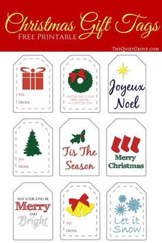 Add the perfect touch to your holiday gift wrapping with these fun originally designed Free Printable Christmas gift tags. Free Printable Christmas Gift Tags, Free Printable Gift Tags, Christmas Printables, Free Printables, Noel Christmas, All Things Christmas, Christmas Crafts, Christmas Presents, Christmas Desserts