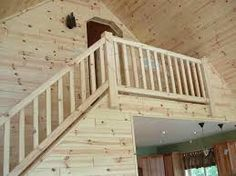 unfinished wood stair railings - Google Search