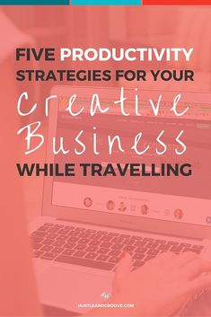 Five tips for staying productive in your creative business while travelling. Learn how to keep it all together even when you're travelling. Click through to read more.: