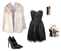 """""""L club"""" by miumiudeleeuw on Polyvore featuring Saga Furs, Yves Saint Laurent, Wolford and Chanel"""