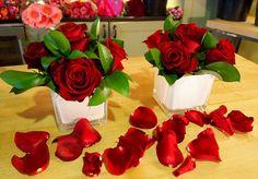 v- day roses w/ petaling // sarah von pollaro