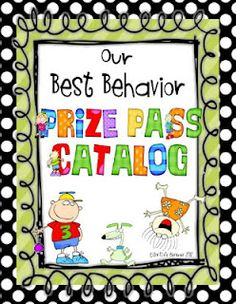 No more prize box!  Prize Pass Catalog with dots border!  {FREEBIE}