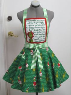 The Grinch Apron  How the Grinch Stole Christmas by AquamarCouture
