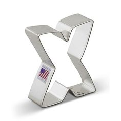 Ann Clark Letter X Cookie Cutter  3 Inches  Tin Plated Steel