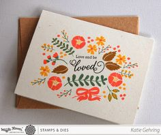 stamping: Love and be Loved Card {Waffle Flower Crafts}