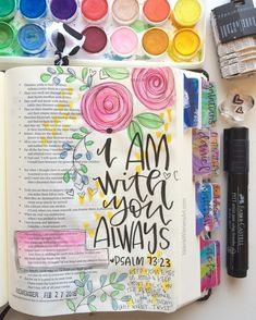 Bible Journaling- Psalm 73:23 Valerie Wieners