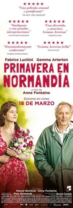 """Campaña de publicidad en quioscos de prensa de Madrid para el estreno de la película """"Primavera en Normandía"""", de director Anne Fontaine."""