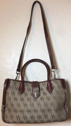 d1f8d773c1dd Dooney & Bourke Signature Quilt Small Double Handle Tote Bag Canvas  Leather Brwn | Clothing. eBay